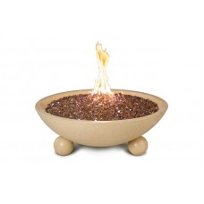 "American Fyre Designs 24"" Versailles Fire Bowl with Ball Feet"