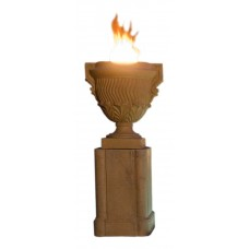American Fyre Designs Piage Fire Urn and Pedestal