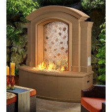 American Fyre Designs Large Firefall with Artisan Glass