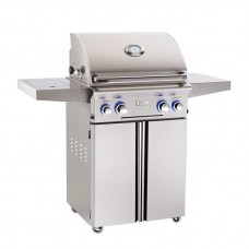 "AOG 24"" L Series Portable Grill With Rotisserie and Single Side Burner"