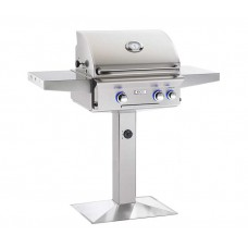 "AOG 24"" L Series Patio Post Grill With Rotisserie Backburner"