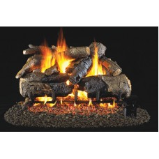Real Fyre Charred American Oak with Strainless Steel G45 See-Thru burner