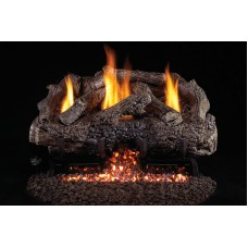 Real Fyre Charred Frontier Oak Vent Free Logs With G10 Stainless Steel Burner