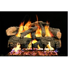 Real Fyre Charred Evergreen Oak and Radiant Fyre Burner