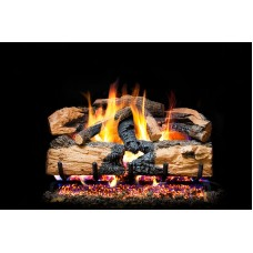 Real Fyre Charred Evergreen Split Oak and Radiant Fyre Burner
