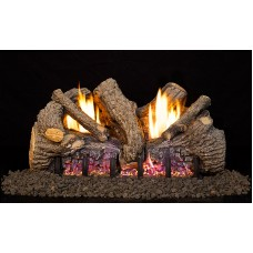 Real Fyre Foothill Oak Logs with G19 Vent Free Burner