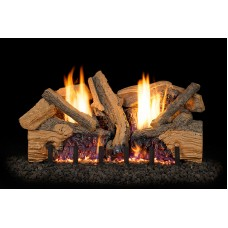 Real Fyre Foothill Split Oak Logs with G19 Vent Free Burner