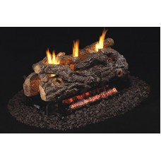 Real Fyre Golden Oak Designer Logs with G9 See-Thru Vent Free Burner
