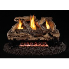 Real Fyre Split Oak Vent-Free Gas Logs with G9 See Thru Series Burner